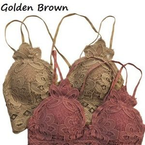 Anemon Brown Lace Adjustable Double Strap Bralette
